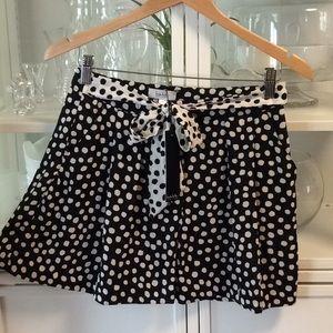NWT Black & White Polka Dot Shorts with Pockets  8